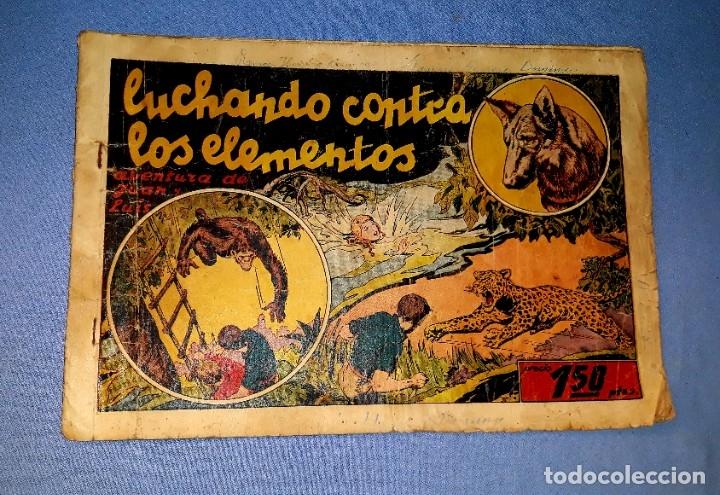 LUCHANDO CONTRA LOS ELEMENTOS AVENTURA DE JUAN Y LUIS AÑOS 40 ORIGINAL VER FOTOS Y DESCRIPCION (Tebeos y Comics - Hispano Americana - Otros)