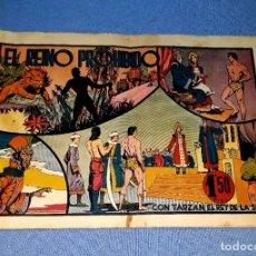 Tebeos: EL REINO PROHIBIDO CON TARZAN HISPANO AMERICANA AÑOS 40 ORIGINAL VER FOTO Y DESCRIPCION. Lote 178128737