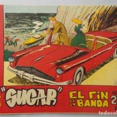 Tebeos: COMIC - SUGAR , AGENTE SECRETO - Nº 10 , EL FIN DE LA BANDA - AÑO 1964 - ORIGINAL .. L390. Lote 178329346