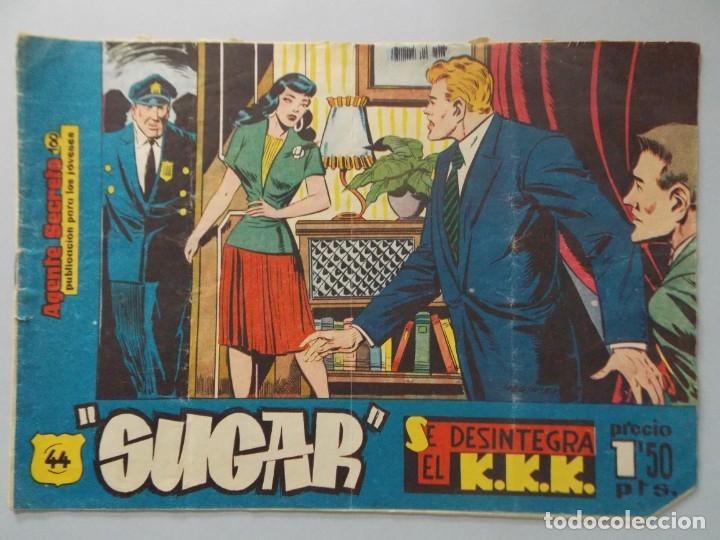 COMIC - SUGAR , AGENTE SECRETO - Nº 44 , SE DESINTEGRA EL K.K.K. - AÑO 1959 - ORIGINAL .. L391 (Tebeos y Comics - Hispano Americana - Otros)