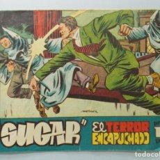 Tebeos: COMIC - SUGAR , AGENTE SECRETO - Nº 38 - EL TERROR ENCAPUCHADO - AÑO 1959 - ORIGINAL . L406. Lote 178356046