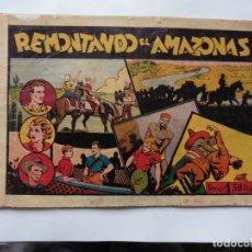 Tebeos: REMONTANDO EL AMAZONAS ,JUAN Y LUIS Nº 9 HISPANOAMERICANA ORIGINAL. Lote 178859115