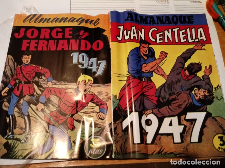 ALMANAQUE JORGE Y FERNANDO Y JUAN CENTELLA 1947 (Tebeos y Comics - Hispano Americana - Jorge y Fernando)