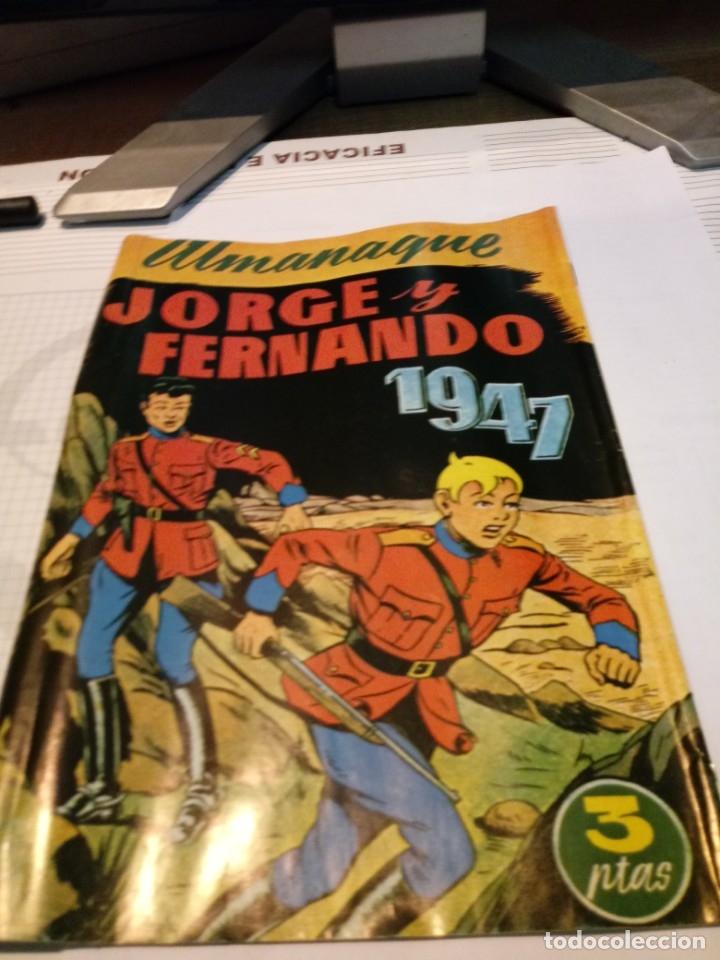 Tebeos: ALMANAQUE JORGE Y FERNANDO Y JUAN CENTELLA 1947 - Foto 3 - 179388357