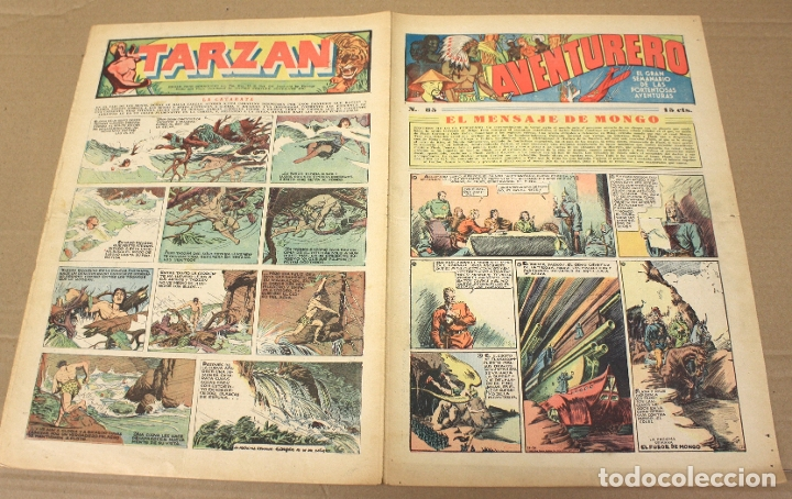 AVENTURERO. EL GRAN SEMANARIO DE LAS PORTENTOSAS AVENTURAS. Nº 85. ORIGINAL. 15 CTS. (Tebeos y Comics - Hispano Americana - Aventurero)