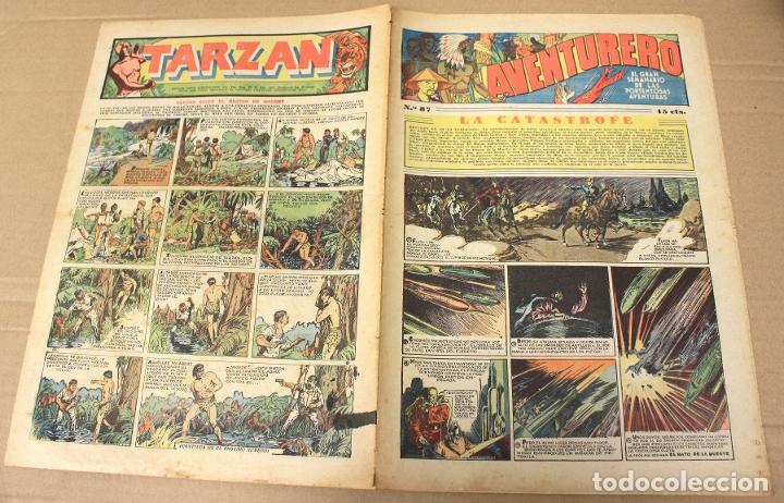 AVENTURERO. EL GRAN SEMANARIO DE LAS PORTENTOSAS AVENTURAS. Nº 87. ORIGINAL. 15 CTS. (Tebeos y Comics - Hispano Americana - Aventurero)