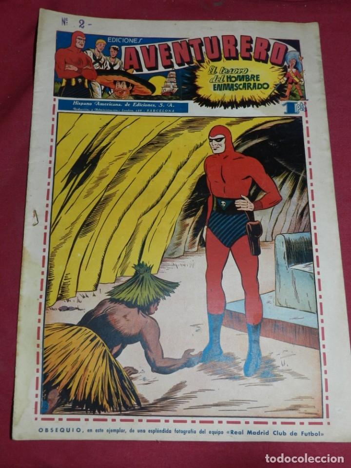 (M2) AVENTURERO NUM 2 - EDITORIAL HISPANO AMERICANA, SEÑALES DE USO (Tebeos y Comics - Hispano Americana - Aventurero)