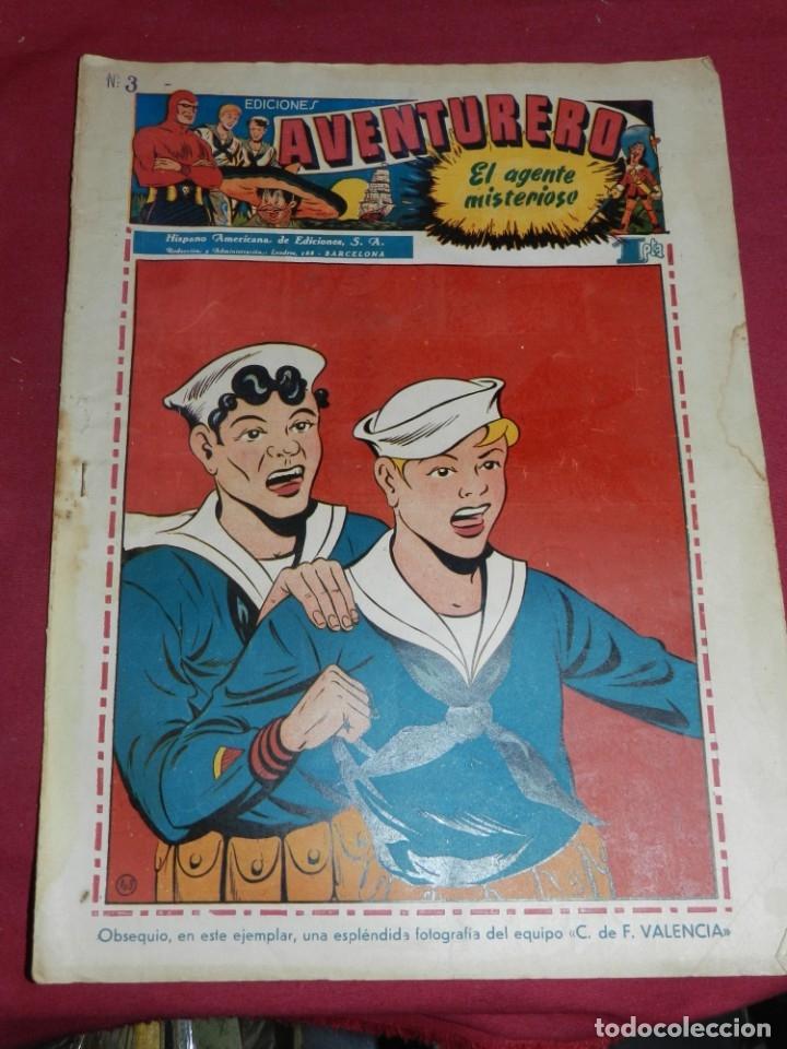 (M2) AVENTURERO NUM 3 - EDITORIAL HISPANO AMERICANA, SEÑALES DE USO (Tebeos y Comics - Hispano Americana - Aventurero)