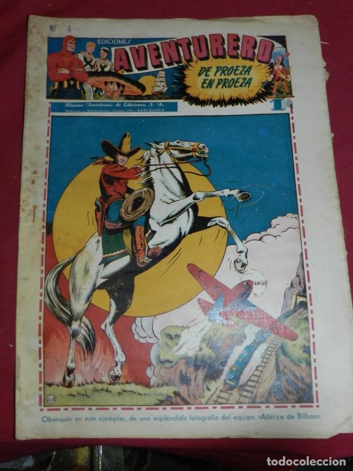 (M2) AVENTURERO NUM 4 - EDITORIAL HISPANO AMERICANA, SEÑALES DE USO (Tebeos y Comics - Hispano Americana - Aventurero)