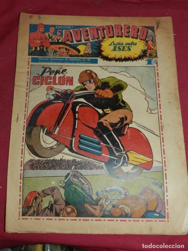 (M2) AVENTURERO NUM 5 - EDITORIAL HISPANO AMERICANA, SEÑALES DE USO (Tebeos y Comics - Hispano Americana - Aventurero)