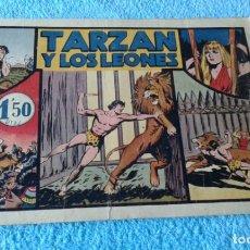 Tebeos: TARZAN Y LOS LEONES Nº 4 -ORIGINAL HAROLD FOSTER 1942 CROMOS FUTBOL BARCELONA Y AT. AVIACION . Lote 181575745