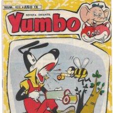 Tebeos: YUMBO Nº 422, EL INENCONTRABLE ORIGINAL DE H. AMERICANA 1953, BUEN ESTADO - VER. Lote 181898306