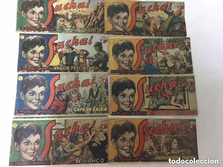SUCHAI- LOTE DE 8 EJEMPLARES - NUM. 25, 26,27,30,31,32,33,34 -- A ESCOGER: 3€ (Tebeos y Comics - Hispano Americana - Suchai)