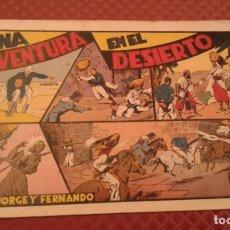 Tebeos: UNA AVENTURA EN EL DESIERTO CON JORGE Y FERNANDO HISPANOAMERICANA . Lote 182234241