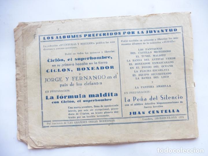 Tebeos: JORGE Y FERNANDO Nº 2 LA PRINCESA DESTERRADA HISPANO AMERICANA 1940 ORIGINAL - Foto 2 - 182576145
