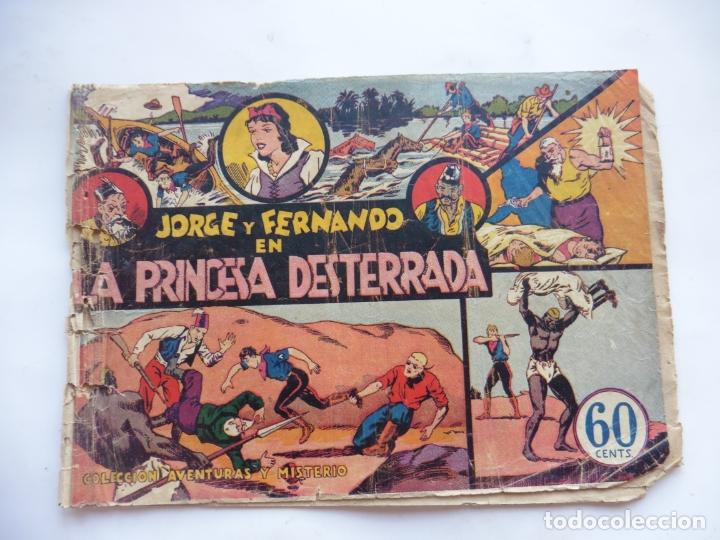 JORGE Y FERNANDO Nº 2 LA PRINCESA DESTERRADA HISPANO AMERICANA 1940 ORIGINAL (Tebeos y Comics - Hispano Americana - Jorge y Fernando)