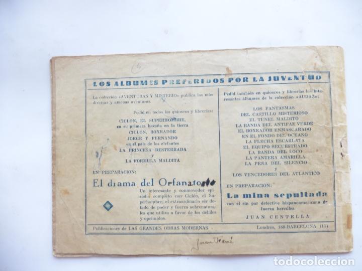 Tebeos: JORGE Y FERNANDO Nº 4 A LA CAZA DE MILLONES HISPANO AMERICANA 1940 ORIGINAL - Foto 2 - 182576250