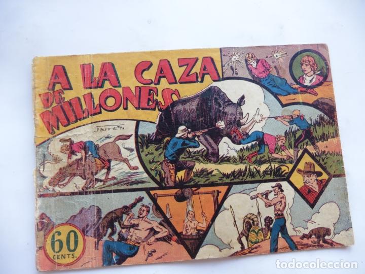 JORGE Y FERNANDO Nº 4 A LA CAZA DE MILLONES HISPANO AMERICANA 1940 ORIGINAL (Tebeos y Comics - Hispano Americana - Jorge y Fernando)