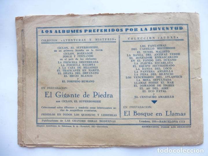 Tebeos: JORGE Y FERNANDO Nº 9 EL MERCADER DE ESCLAVOS HISPANO AMERICANA 1940 ORIGINAL - Foto 2 - 182576353