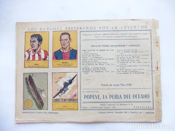 Tebeos: JORGE Y FERNANDO Nº 33 LA CAVERNA DEL TESORO AMERICANA 1940 ORIGINAL - Foto 2 - 182577402