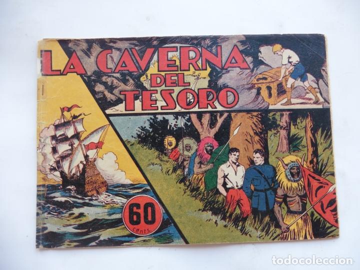 JORGE Y FERNANDO Nº 33 LA CAVERNA DEL TESORO AMERICANA 1940 ORIGINAL (Tebeos y Comics - Hispano Americana - Jorge y Fernando)
