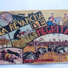 Tebeos: JORGE Y FERNANDO Nº 38 LA REVANCHA DE NEGRITA AMERICANA 1940 ORIGINAL. Lote 182578307