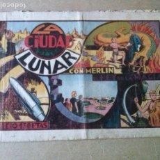 Tebeos: LA CIUDAD LUNAR Nº 6 - MERLIN - HISPANO AMERICANA. Lote 182591785