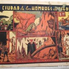 Tebeos: LA CIUDAD DE LOS HOMBRES DE PIEDRA- MANCHITAS EN PORTADA Y PICO ABAJO DERECHA- MBC. Lote 183317651
