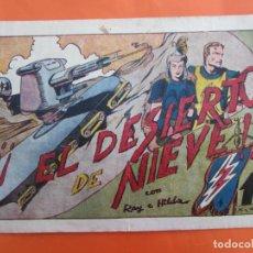 Tebeos: RAY DE ASTUR , EL DESIERTO DE NIEVE , , NUMERO 9 , HISPANO AMERICANA 1943 , ELIAS , BARCELONA. Lote 183458568