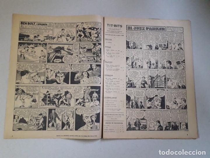 Tebeos: Tit Bits n° 2405 - La Sombra - Historieta original argentina año 1955 - Foto 2 - 184521586