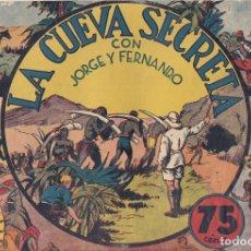 Tebeos: LA CUEVA SECRETA. CÓMIC DE HISPANOAMERICANA CON TRES CROMOS DEL ALBUM CENTELLA, CON ESCUDO BARCELONA. Lote 185904842