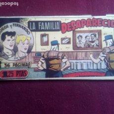 Tebeos: JORGE Y FERNANDO - Nº 66 - LA FAMILIA DESAPARECIDA - HISPANO AMERICANA. Lote 186231282