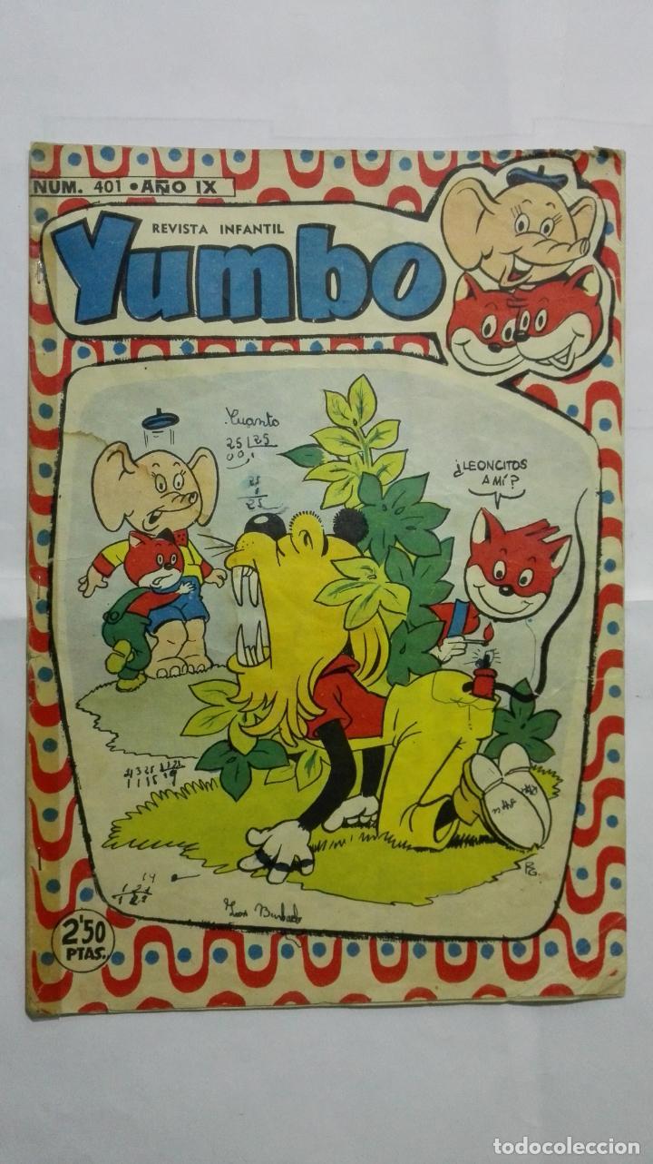 REVISTA INFANTIL YUMBO, Nº 401, HIPANO AMERICANA DE EDICIONES, AÑO 1958 (Tebeos y Comics - Hispano Americana - Yumbo)