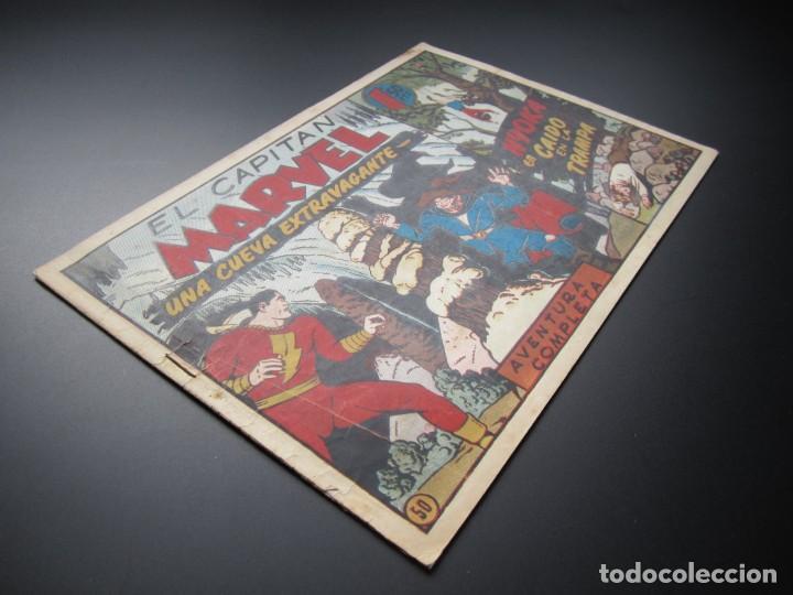 Tebeos: CAPITAN MARVEL, EL (1947, HISPANO AMERICANA) 50 · 1947 · UNA CUEVA EXTRAVAGANTE - Foto 3 - 188470626