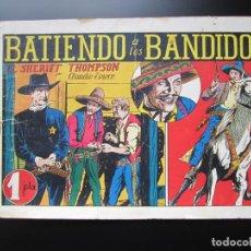 Tebeos: SHERIFF THOMPSON, EL (1943, HISPANO AMERICANA) 3 · 1943 · BATIENDO A LOS BANDIDOS. Lote 188488128