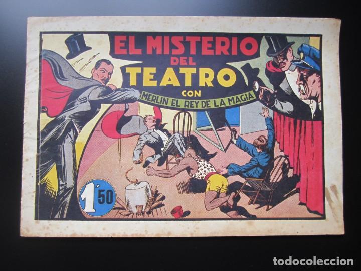 MERLIN (1942, HISPANO AMERICANA) -EL MAGO MODERNO- 10 · 1942 · EL MISTERIO DEL TEATRO (Tebeos y Comics - Hispano Americana - Merlín)