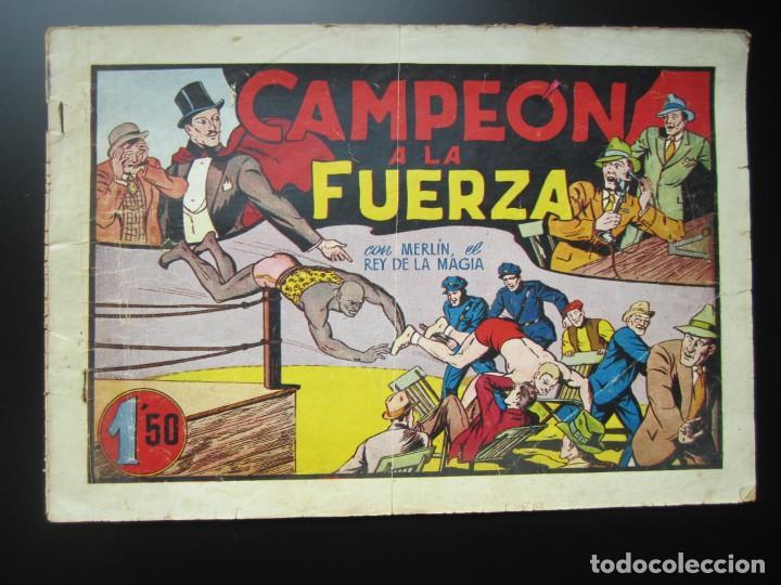MERLIN (1942, HISPANO AMERICANA) -EL MAGO MODERNO- 11 · 1942 · CAMPEON A LA FUERZA (Tebeos y Comics - Hispano Americana - Merlín)