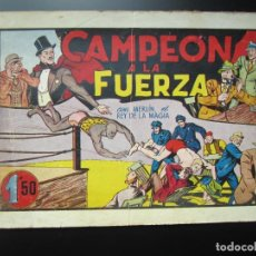 Tebeos: MERLIN (1942, HISPANO AMERICANA) -EL MAGO MODERNO- 11 · 1942 · CAMPEON A LA FUERZA. Lote 188489996
