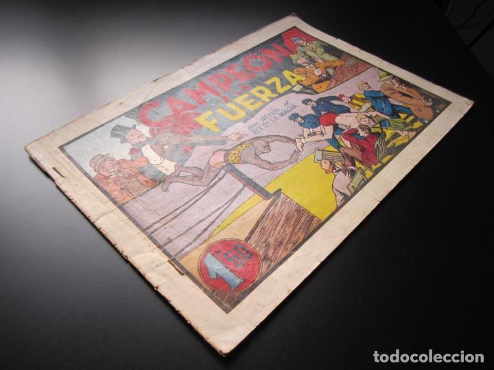 Tebeos: MERLIN (1942, HISPANO AMERICANA) -EL MAGO MODERNO- 11 · 1942 · CAMPEON A LA FUERZA - Foto 3 - 188489996