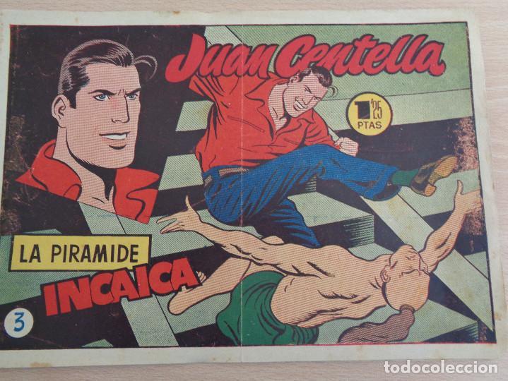 JUAN CENTELLA NÚM. 3. LA PIRAMIDE INCAICA. ORIGINAL. EDITA HISPANO AMERICANA. 1,25 PTAS (Tebeos y Comics - Hispano Americana - Juan Centella)