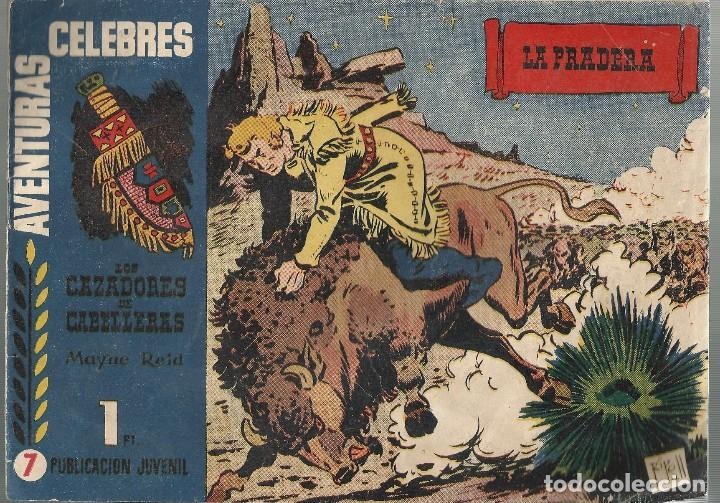 AVENTURAS CELEBRES Nº 7 - LOS CAZADORES DE CABELLERAS - ILUST. RIPOLL - A. 1958 (Tebeos y Comics - Hispano Americana - Otros)