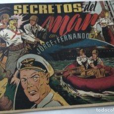 Tebeos: JORGE Y FERNANDO -SECRETOS DEL MAR- BUENA CONSERVACIÓN. Lote 190116900