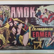 Tebeos: AMOK, LA VENGANZA DE EDMEA. ORIGINAL. AÑOS 40. Lote 190455913