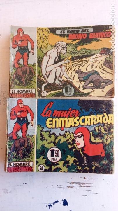 Tebeos: EL HOMBRE ENMASCARADO ORIGINAL AÑO 1952 - COMPLETA 1 AL 38 - VER NUMEROSAS IMÁGENES - Foto 7 - 190479470