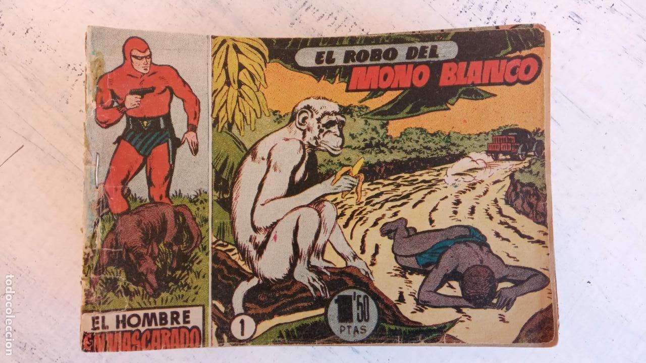 Tebeos: EL HOMBRE ENMASCARADO ORIGINAL AÑO 1952 - COMPLETA 1 AL 38 - VER NUMEROSAS IMÁGENES - Foto 10 - 190479470