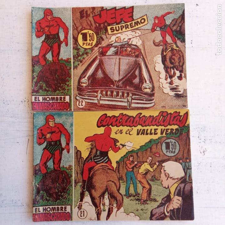 Tebeos: EL HOMBRE ENMASCARADO ORIGINAL AÑO 1952 - COMPLETA 1 AL 38 - VER NUMEROSAS IMÁGENES - Foto 23 - 190479470