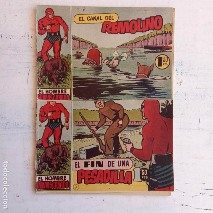 Tebeos: EL HOMBRE ENMASCARADO ORIGINAL AÑO 1952 - COMPLETA 1 AL 38 - VER NUMEROSAS IMÁGENES - Foto 35 - 190479470