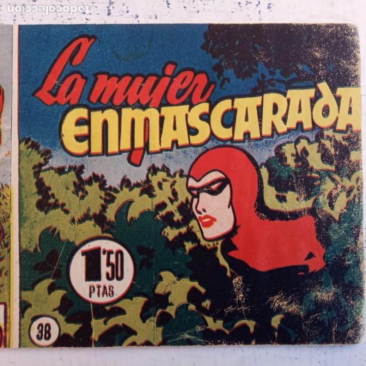 Tebeos: EL HOMBRE ENMASCARADO ORIGINAL AÑO 1952 - COMPLETA 1 AL 38 - VER NUMEROSAS IMÁGENES - Foto 43 - 190479470