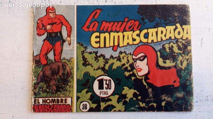 Tebeos: EL HOMBRE ENMASCARADO ORIGINAL AÑO 1952 - COMPLETA 1 AL 38 - VER NUMEROSAS IMÁGENES - Foto 49 - 190479470