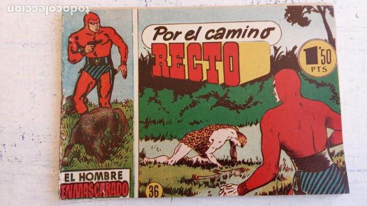 Tebeos: EL HOMBRE ENMASCARADO ORIGINAL AÑO 1952 - COMPLETA 1 AL 38 - VER NUMEROSAS IMÁGENES - Foto 56 - 190479470